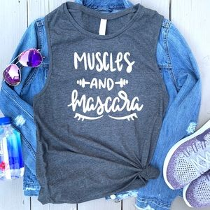 Muscles and Mascara graphic muscle tank tee top